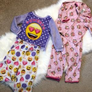 Lot of 2 warm winter pajamas 4T